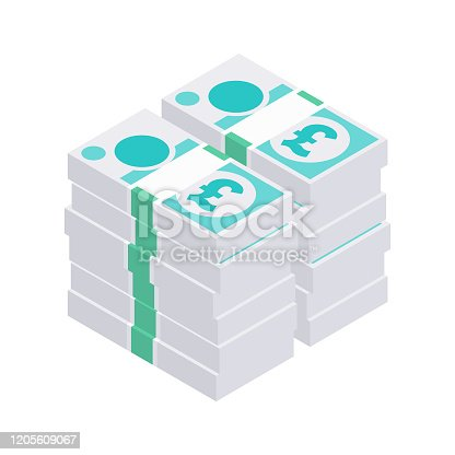 These messy and uneven illustrated piles of British Five Pound Sterling notes (£5) are simple, minimal, and yet instantly recognisable design elements, ideal for your financial design project. The illustrator 10 vector file can be coloured and customised to suit your needs and scaled infinitely without any loss of quality.