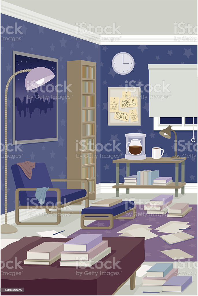 Messy Room royalty-free stock vector art