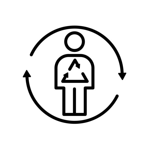 stoffwechsel-symbol isoliert auf weißem hintergrund - stoffwechsel stock-grafiken, -clipart, -cartoons und -symbole