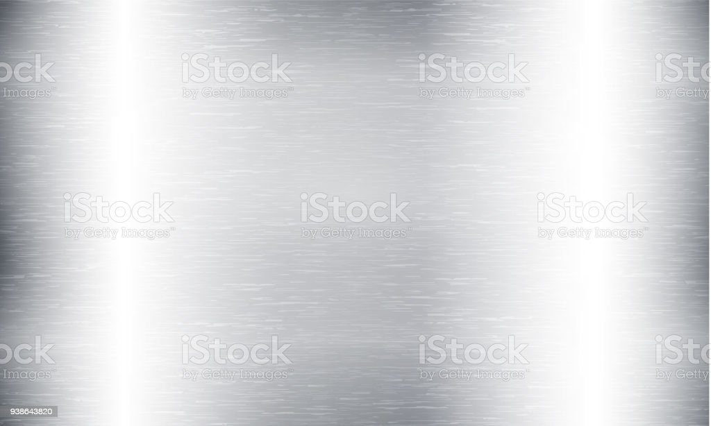 Metal abstract technology background. Aluminum with polished, brushed texture, chrome, silver, steel, for design concepts, web, prints posters wallpapers interfaces Vector illustration vector art illustration