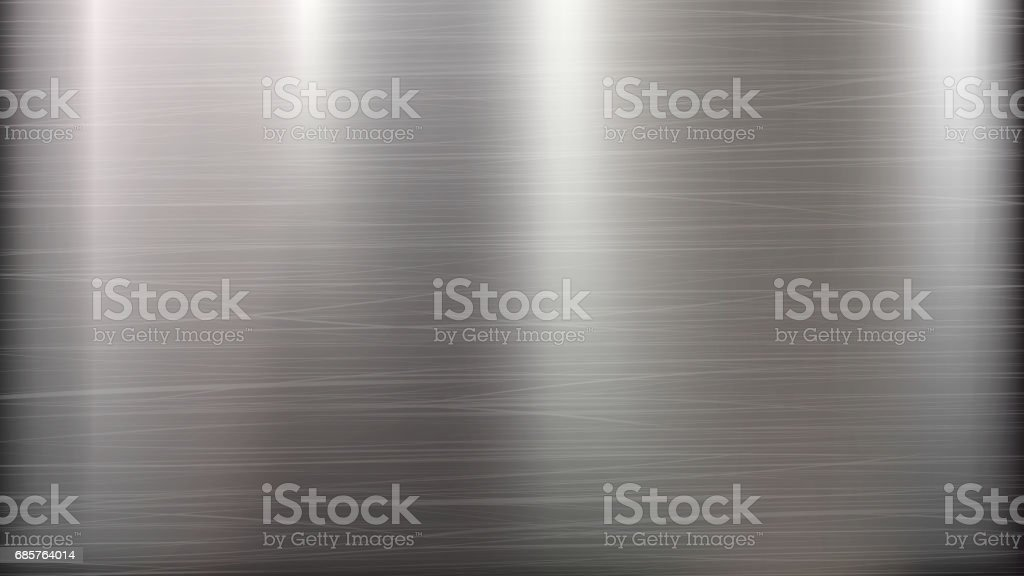 Metal Abstract Technology Background. Polished, Brushed Texture. Chrome, Silver, Steel, Aluminum. Vector illustration vector art illustration