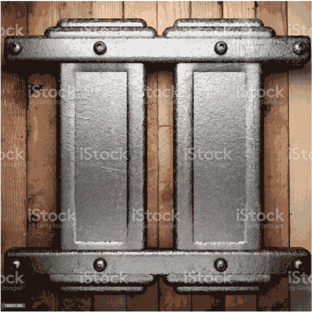 금속 및 목재 배경기술 royalty-free 금속 및 목재 배경기술 0명에 대한 스톡 벡터 아트 및 기타 이미지