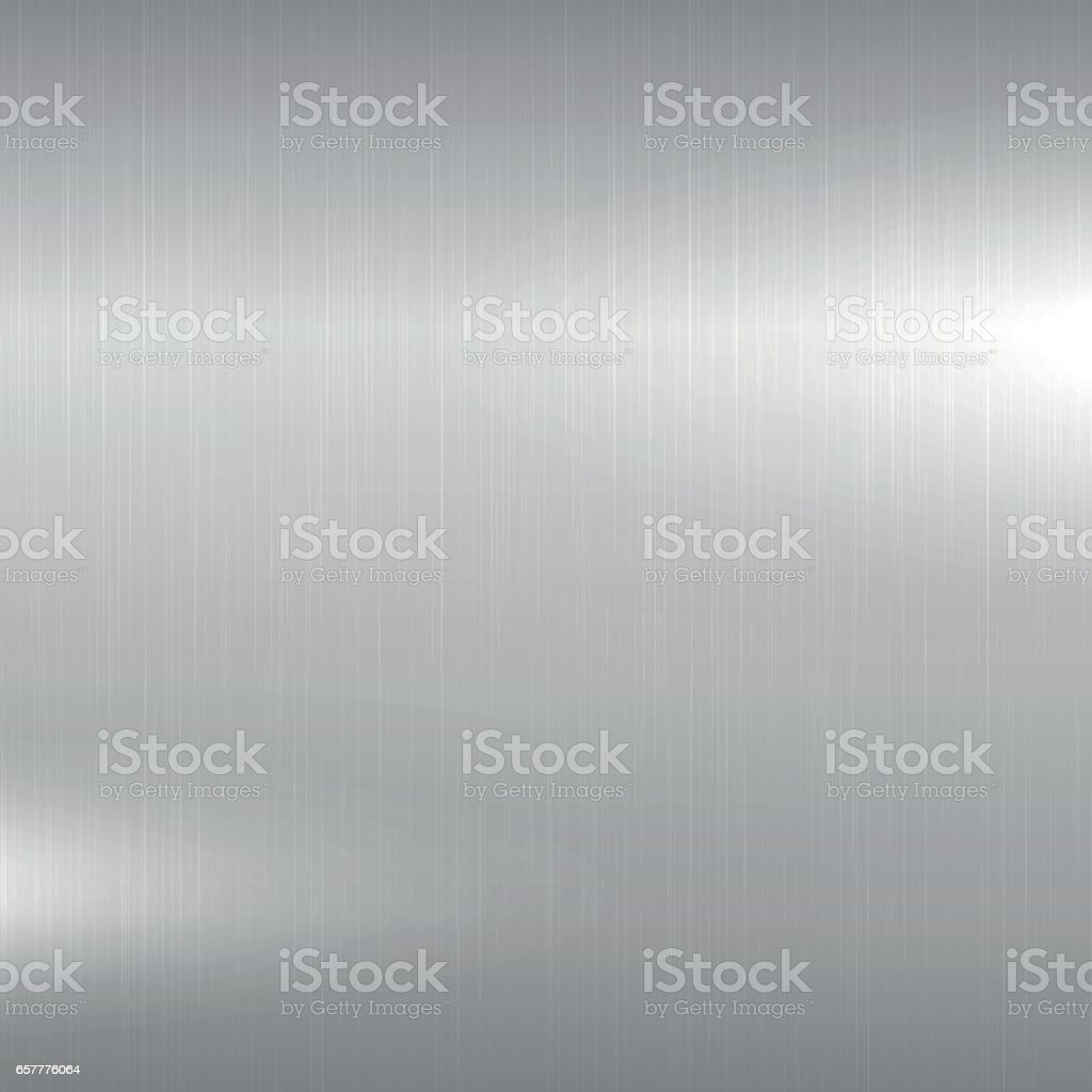 Metal background. Polished chrome surface. vector art illustration