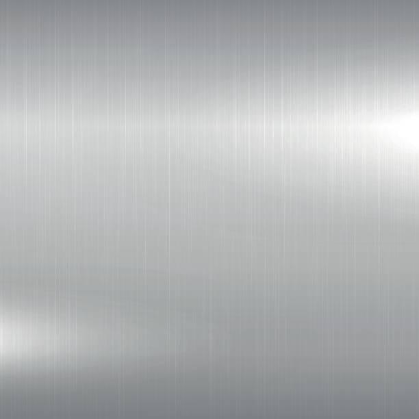 金屬的背景。拋光的鍍鉻表面。向量藝術插圖