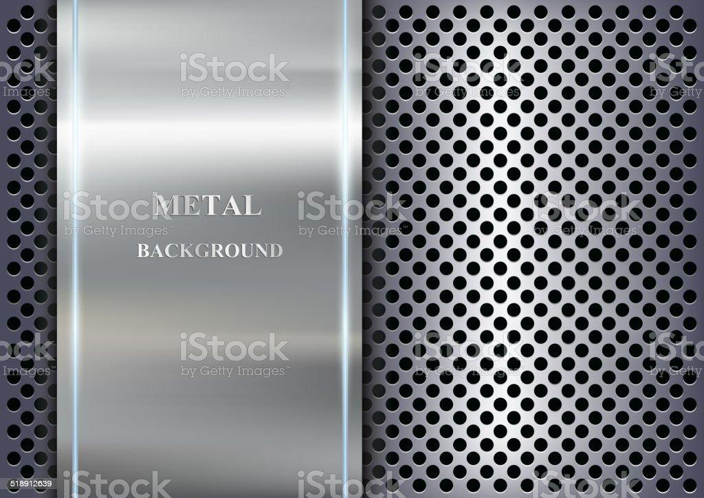 Fundo de metal - ilustração de arte em vetor