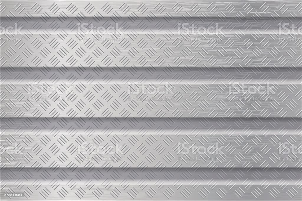 Metal background with non slip surface vector art illustration