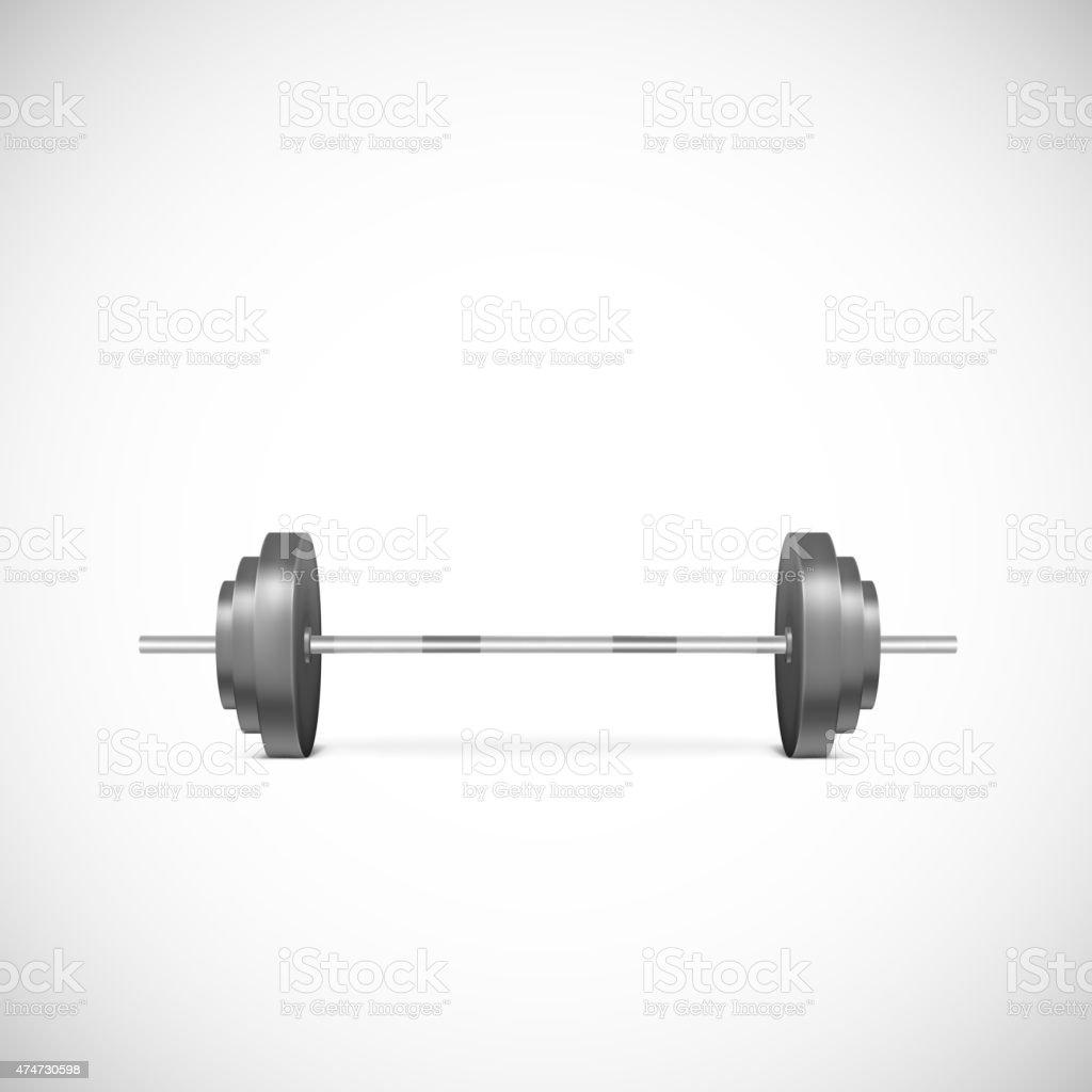 Metal barbell. vector art illustration