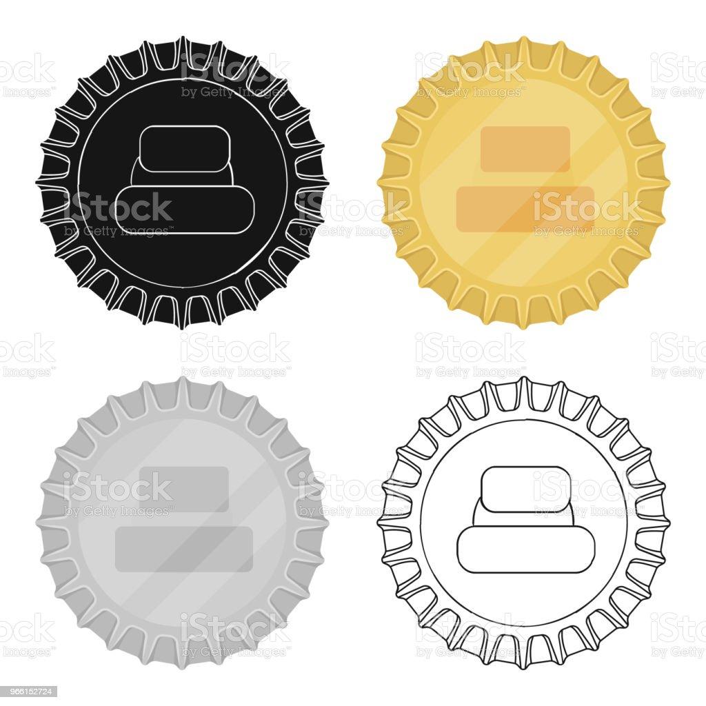 Metal beer cap.Lid for closing bottles . Pub single icon in cartoon style vector symbol stock web illustration. - arte vettoriale royalty-free di Alchol