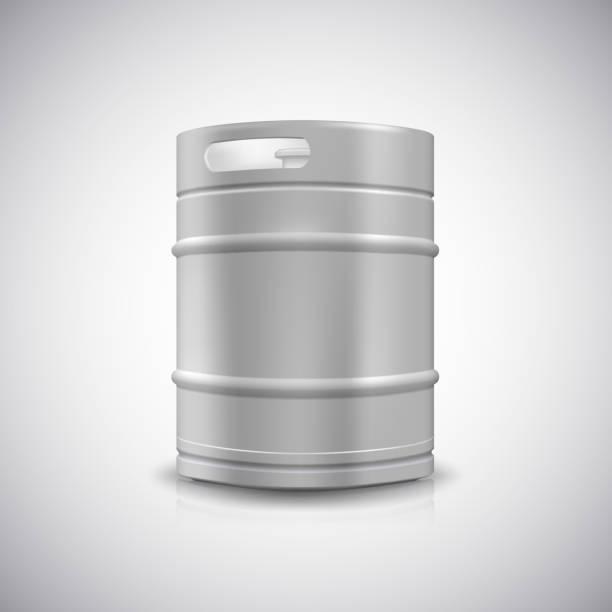 Metall Bier keg – Vektorgrafik