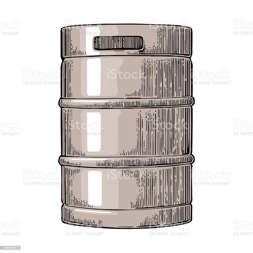 Metal beer keg. – Vektorgrafik