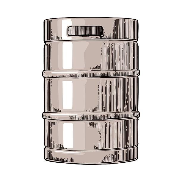 Metal beer keg. – Vektorgrafik