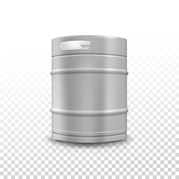 Metal beer keg with grained – Vektorgrafik