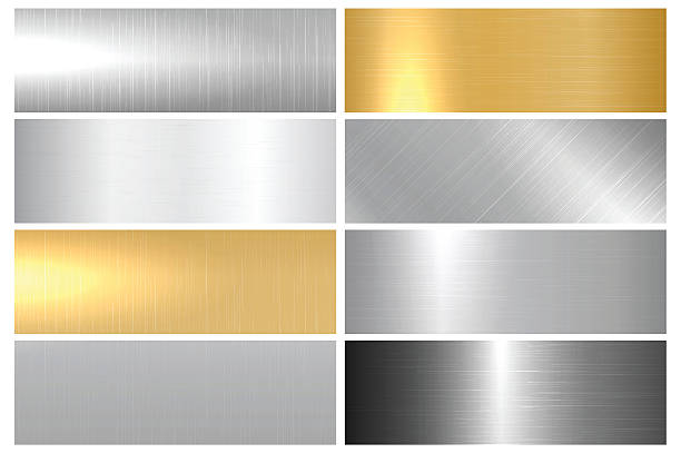 Metal bright textures. – Vektorgrafik