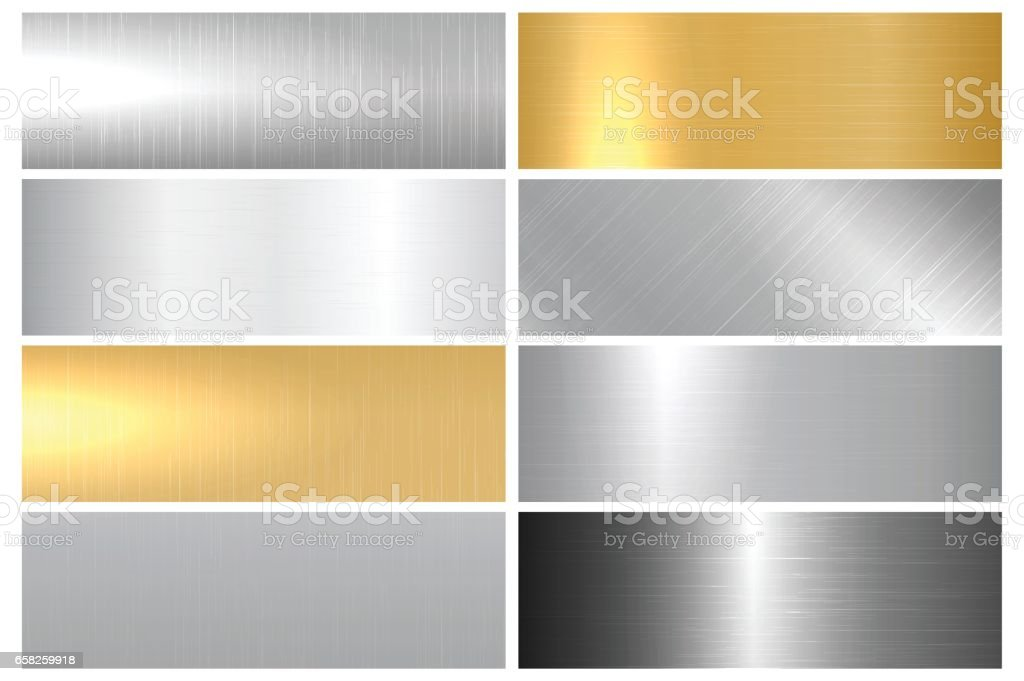 Metal bright textures. vector art illustration