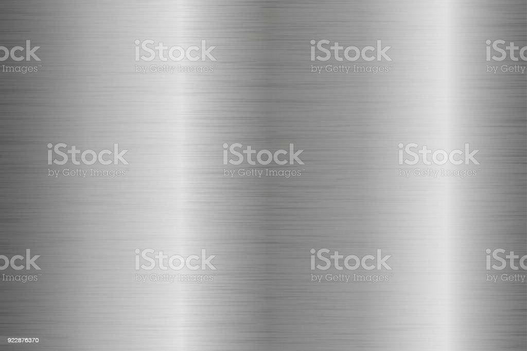 Metal brushed background with scratched surface vector art illustration