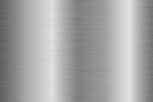 Hintergrund mit zerkratzten Oberfläche aus gebürstetem Metall – Vektorgrafik