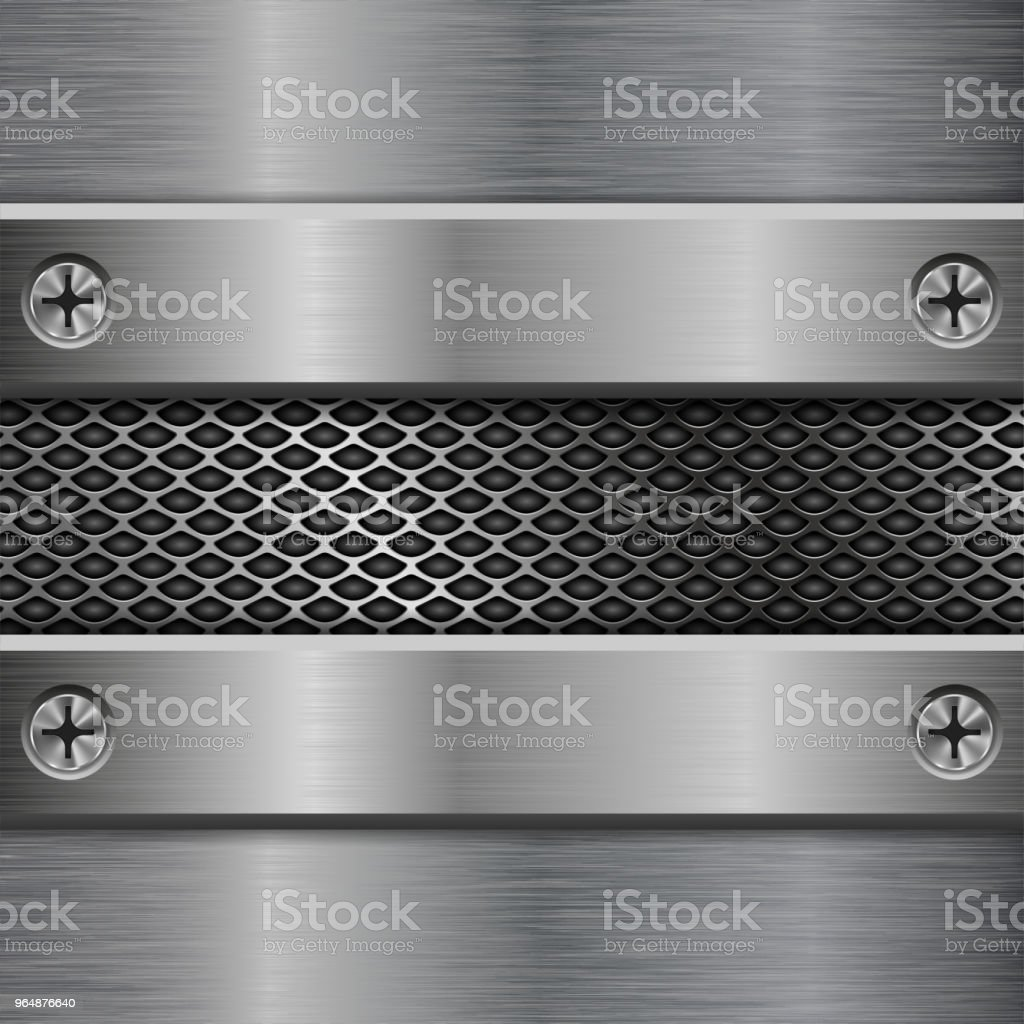 Metal brushed elements on perforated background royalty-free metal brushed elements on perforated background stock vector art & more images of abstract