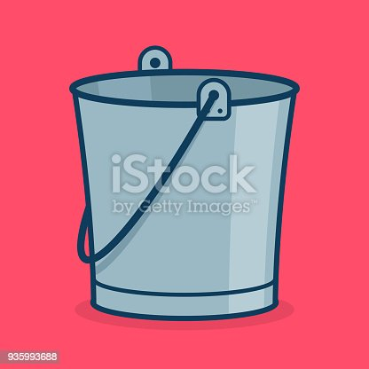 Metal Bucket Icon Sign Or Symbol For App Stock Vector Art More