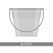 Metal Bucket Isolated