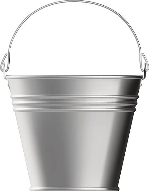 stockillustraties, clipart, cartoons en iconen met metal bucket - emmer