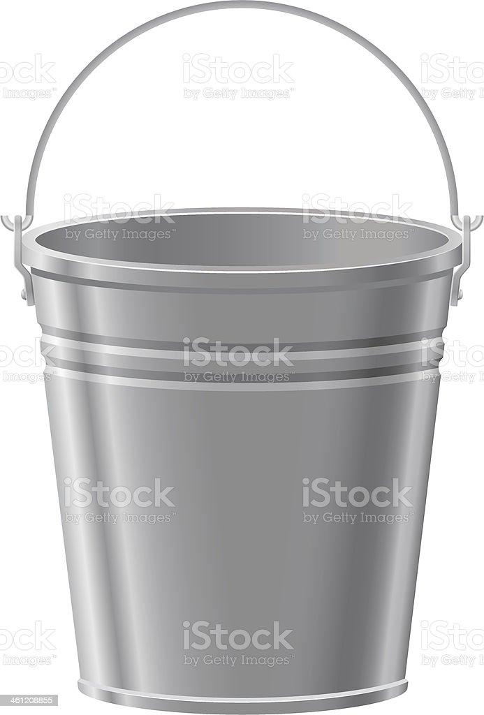 metal bucket vector illustration vector art illustration