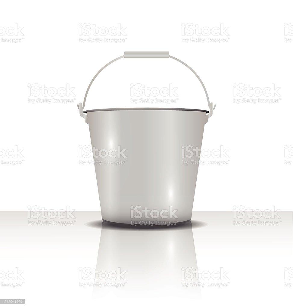 metal bucket with handle  vector illustration vector art illustration