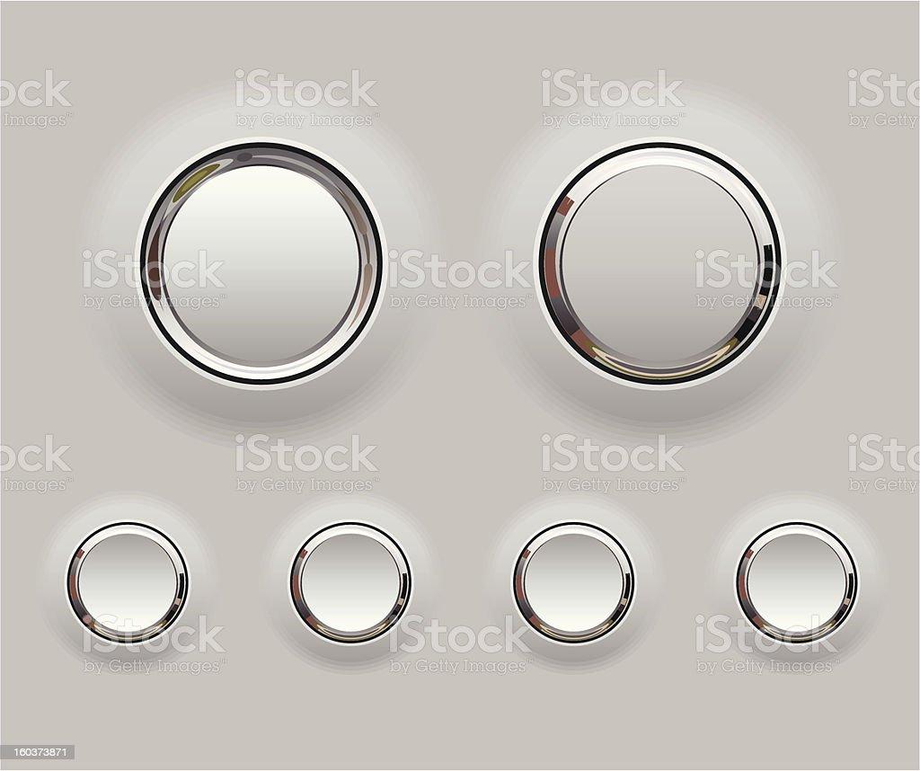 Metal buttons vector art illustration