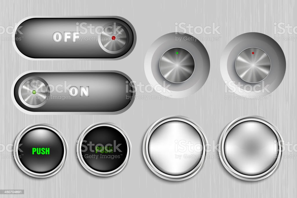 metal buttons royalty-free metal buttons stock vector art & more images of blank