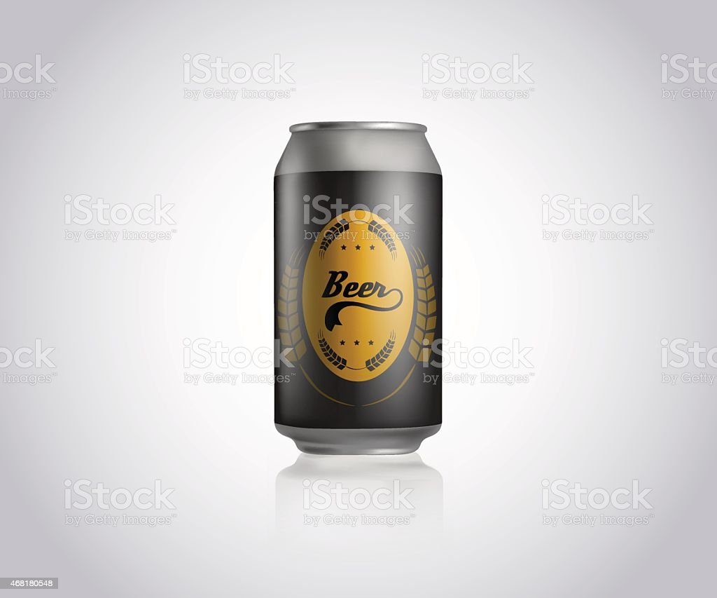 metal can for beer template commercial stock vector art more