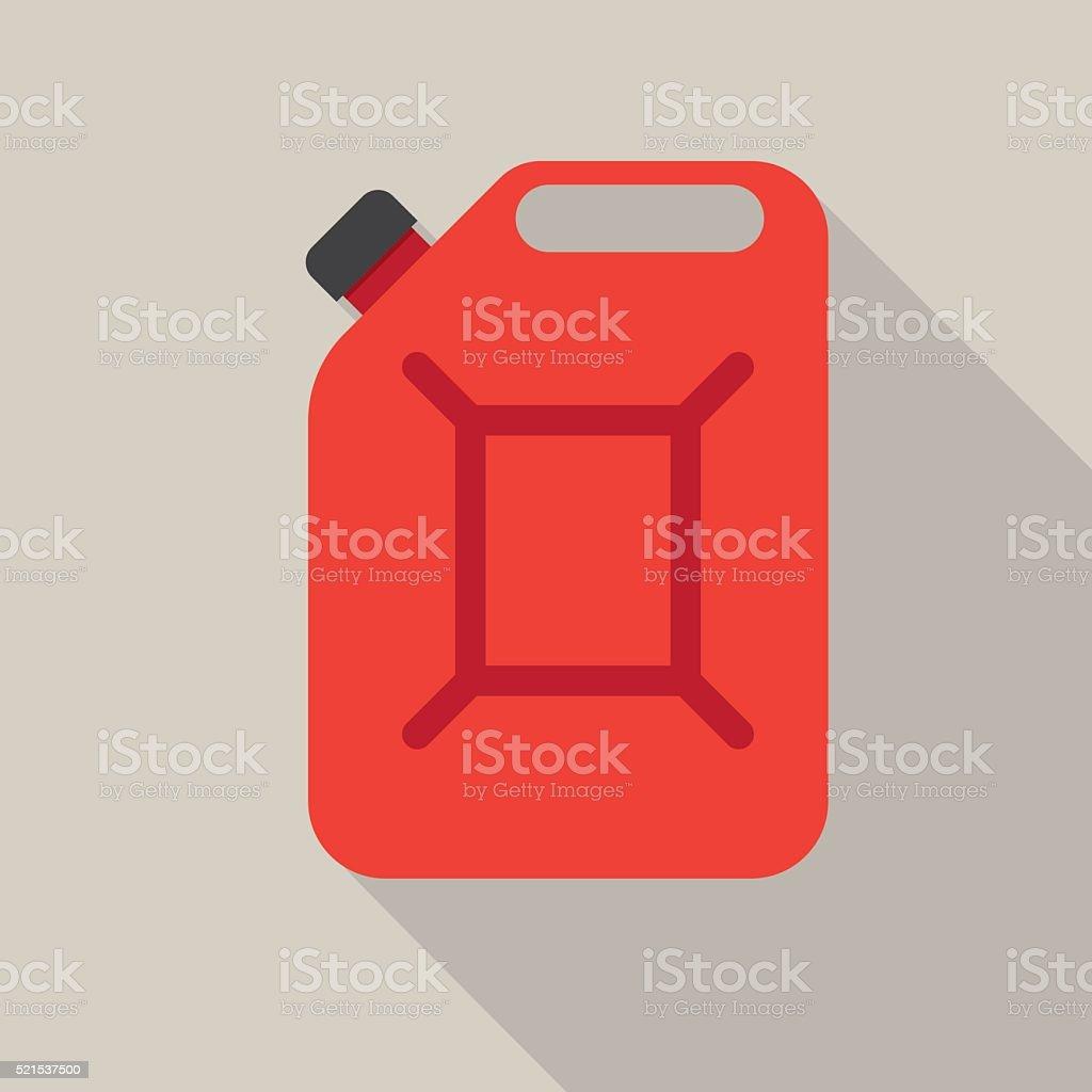 Metal canister of gasoline vector art illustration