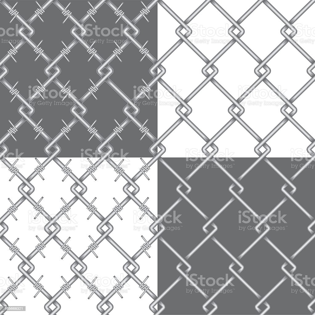 metal chainlink fence and barbed wire pattern royalty-free metal chainlink fence and barbed wire pattern stock vector art & more images of aluminum