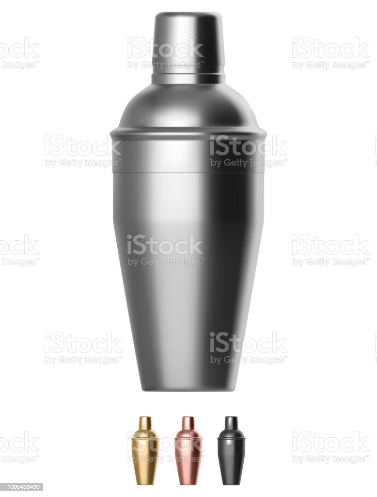 Metal cocktail shaker royalty-free metal cocktail shaker stock illustration - download image now