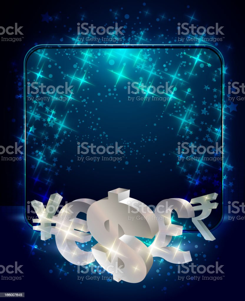 Metal Currencies with Shiny Display royalty-free stock vector art