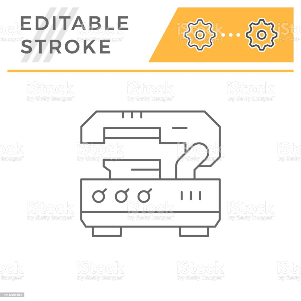 Metal cutting machine line icon royalty-free metal cutting machine line icon stock vector art & more images of automated