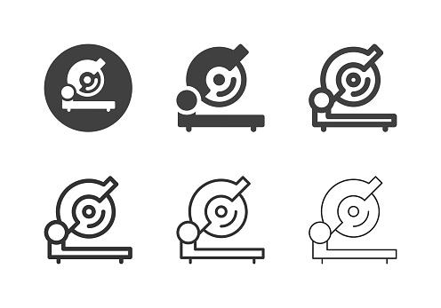 Metal Cutting Saw Icons - Multi Series