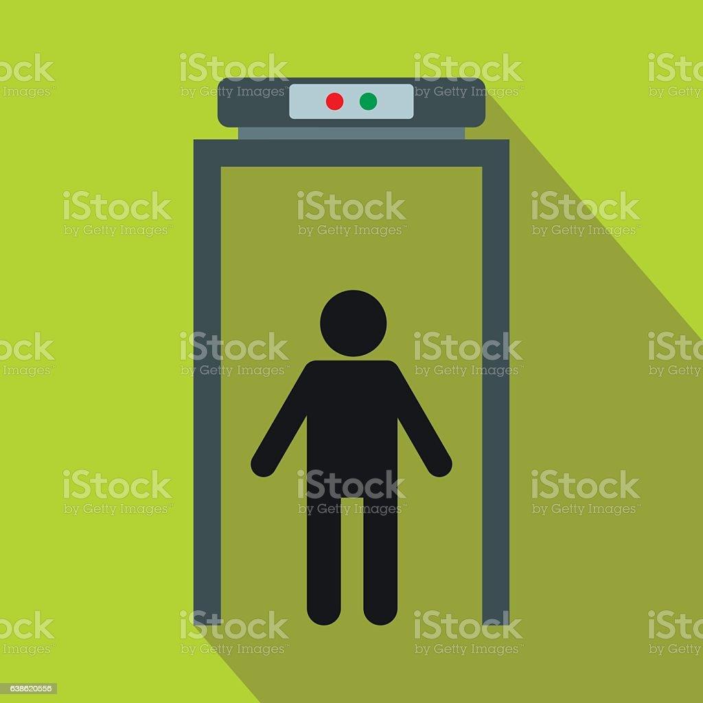 Metal detector flat icon vector art illustration
