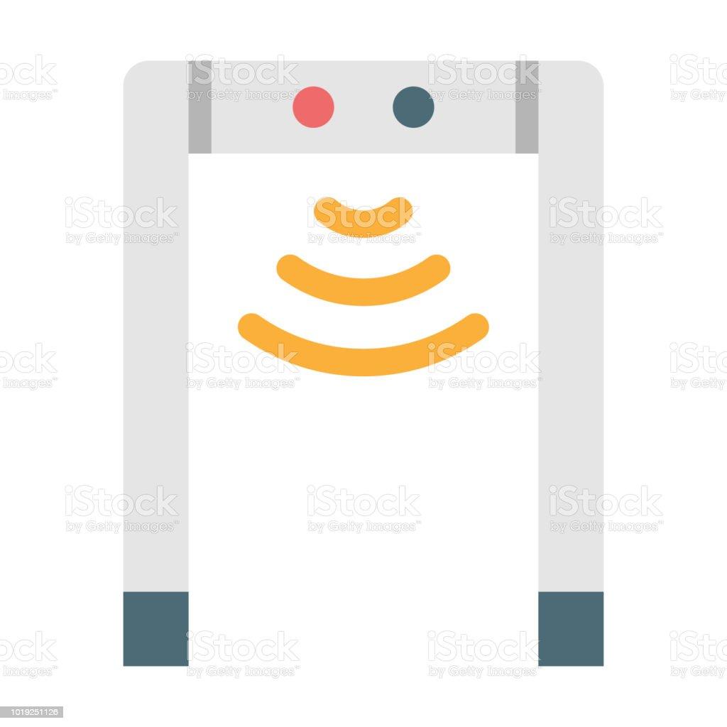 Metal detector flat illustration vector art illustration
