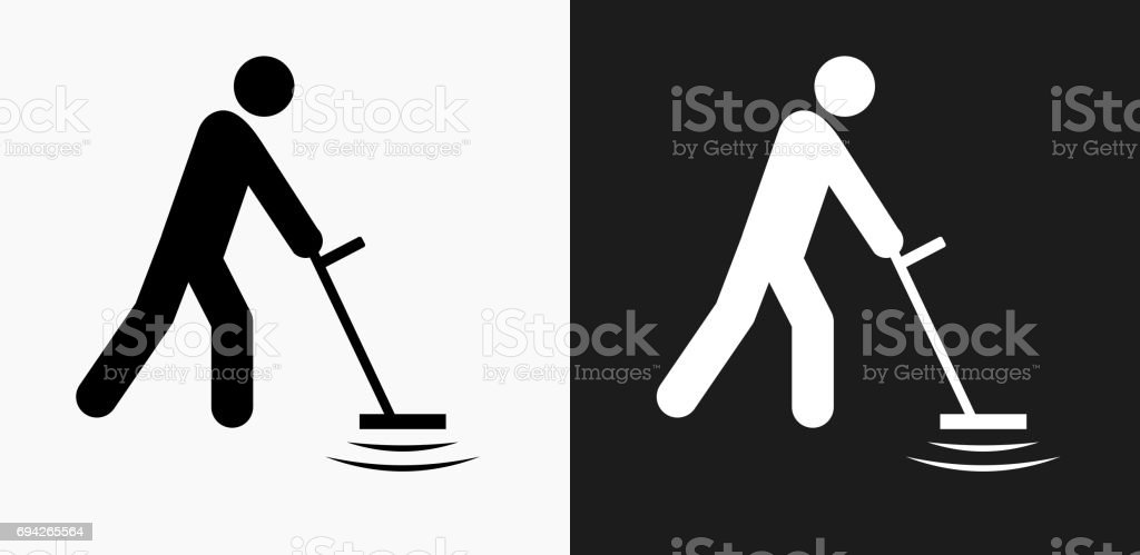 Jew Detector: Metal Detector Icon On Black And White Vector Backgrounds