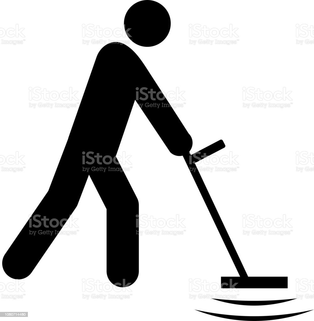 Metal Detector Icon with Long Shadow vector art illustration