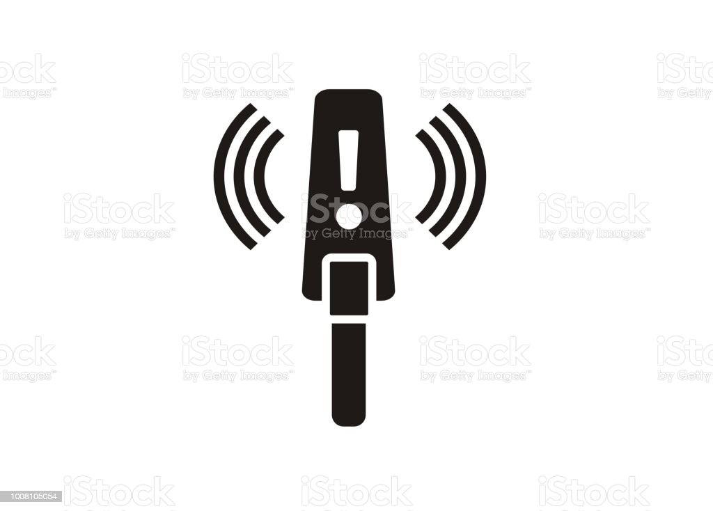 metal detector simple icon vector art illustration