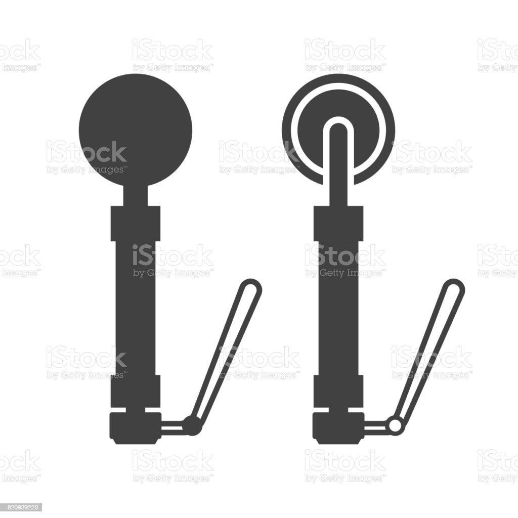 Metal Detector Vector Icon vector art illustration