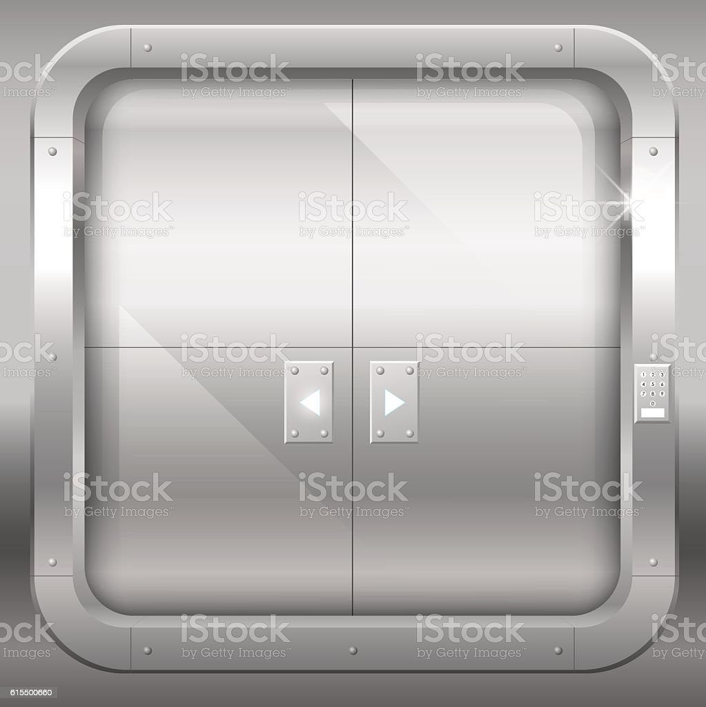 Metal double doors vector art illustration & Royalty Free Submarine Door Clip Art Vector Images \u0026 Illustrations ...