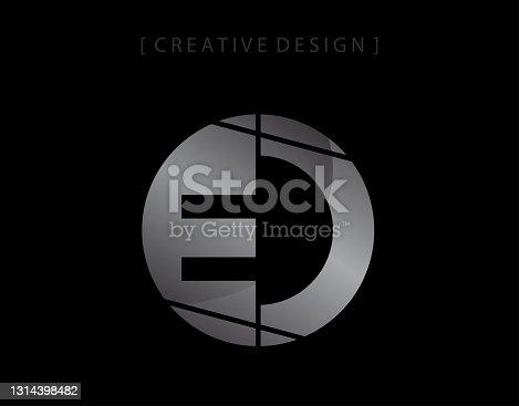 istock Metal ED logo vector. Abstract circle letter E, D, ED  logo icon design template. 1314398482