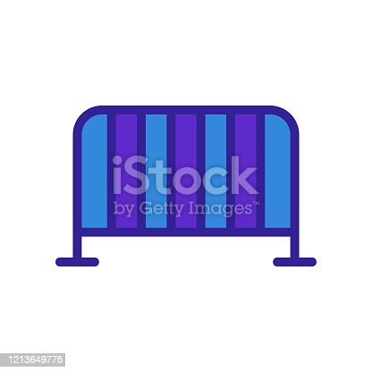 metal fence icon vector. Thin line sign. Isolated contour symbol illustration