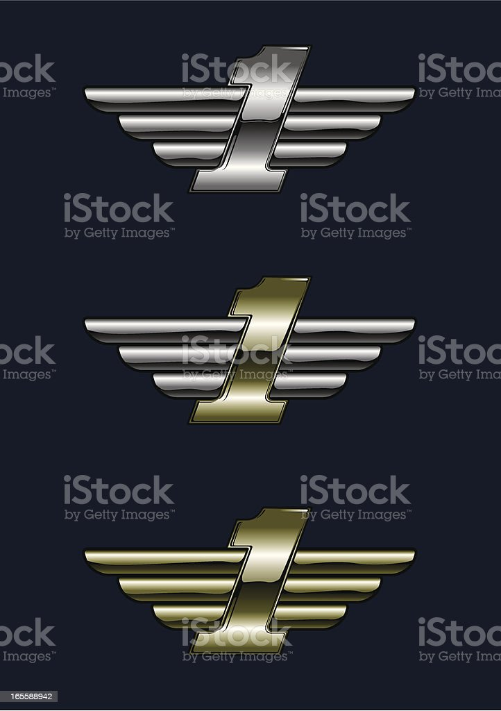 metal first royalty-free stock vector art