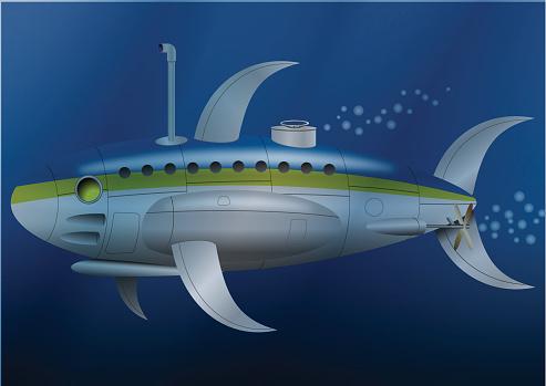 Metal Fish Submarine Stock Illustration - Download Image Now