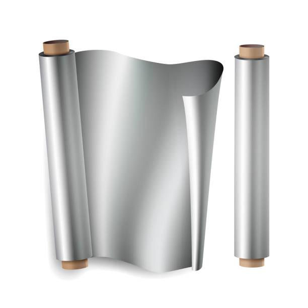 Aluminum Foil Roll Illustrations Royalty Free Vector