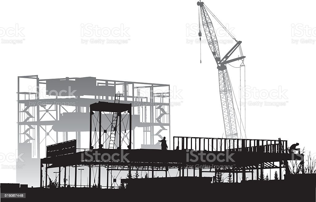 Metal Frame Construction vector art illustration