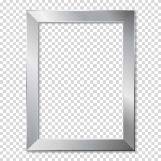 Metallrahmen, isolaterd. – Vektorgrafik