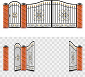 metal gates isolated vector